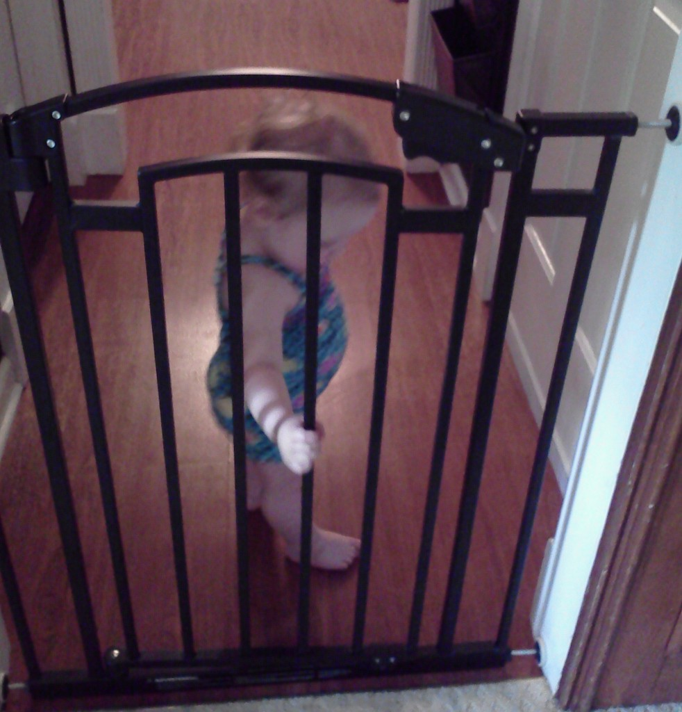 Baby Shutting Baby Safety Gate