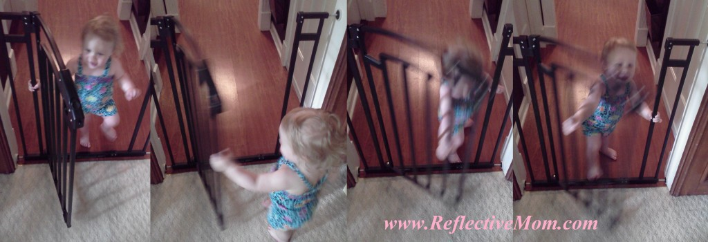 Baby Playing with baby Gate