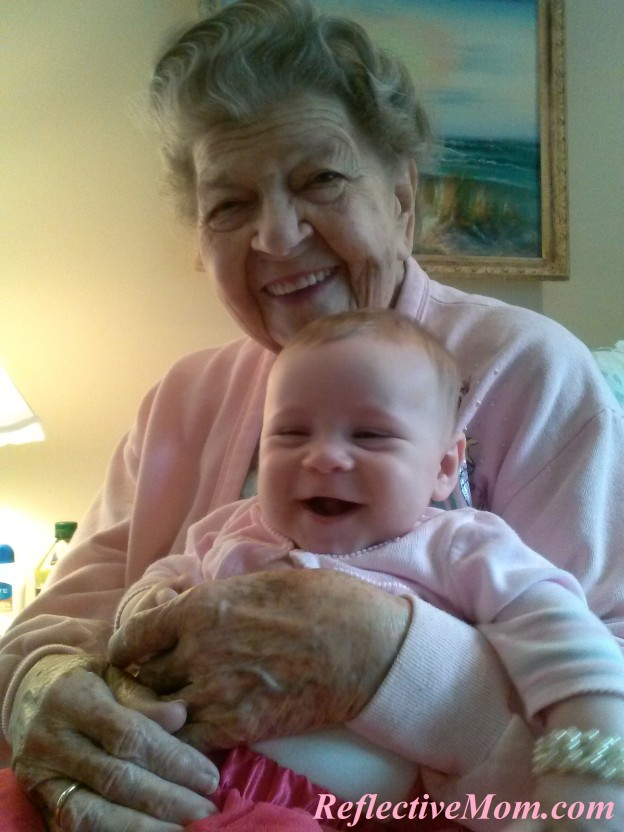 Muffin with her Great Grandma