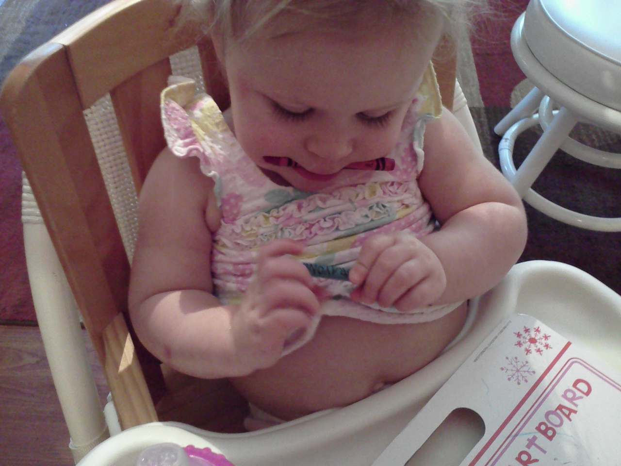 Baby Eating Crayons