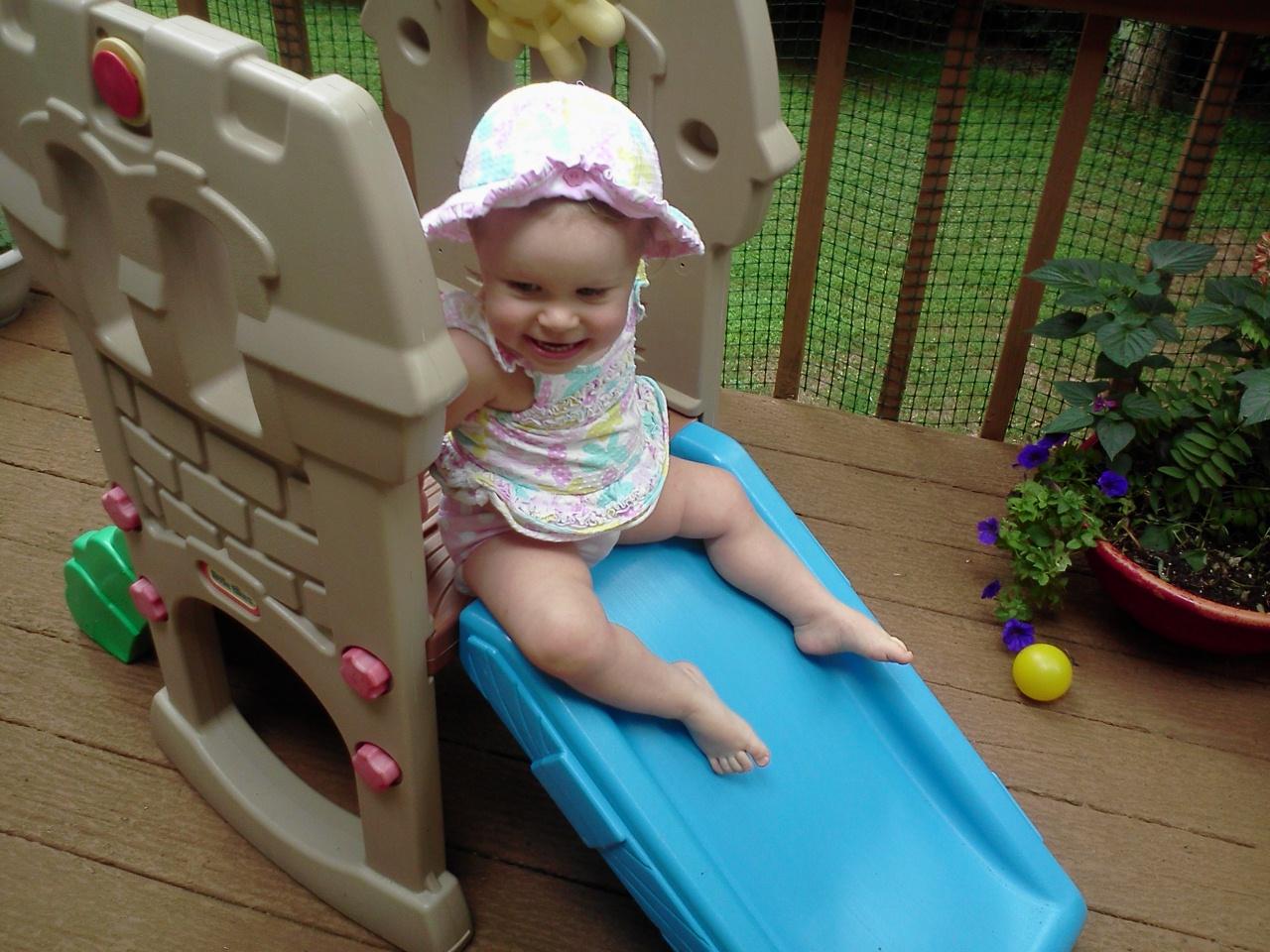 Baby on Slide
