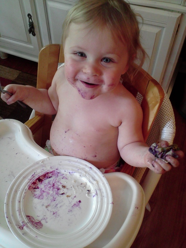 Toddler finished with Blueberry Gallette