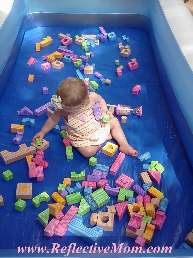 Foam Blocks in Pool