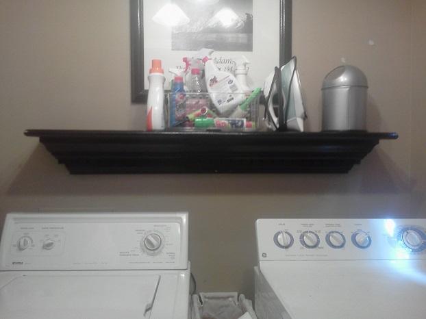 Mantel used as shelf