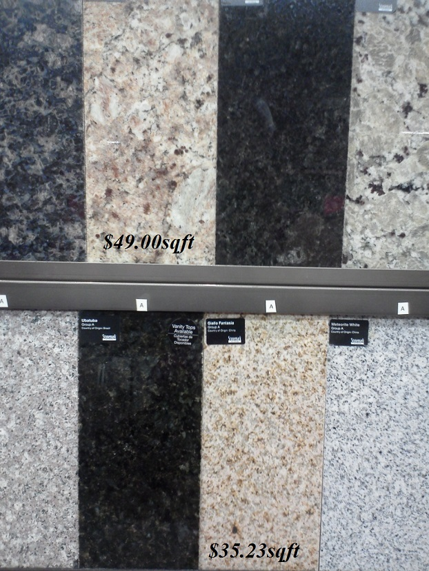 Home Depot Granite Countertop Selections