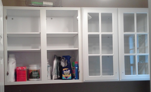 Installing Laundry Room Cabinets