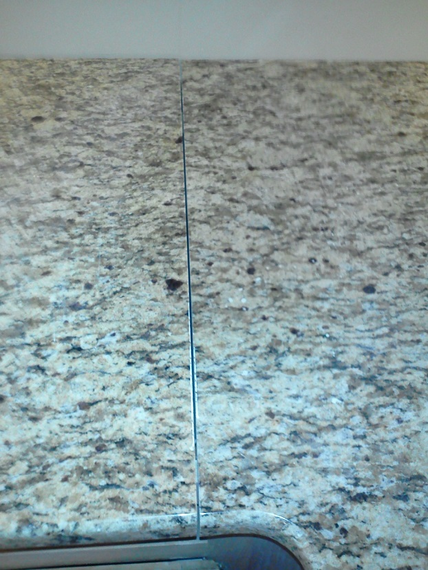 Granite Countertop Seam before finish