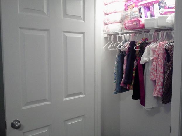 open baby closet door