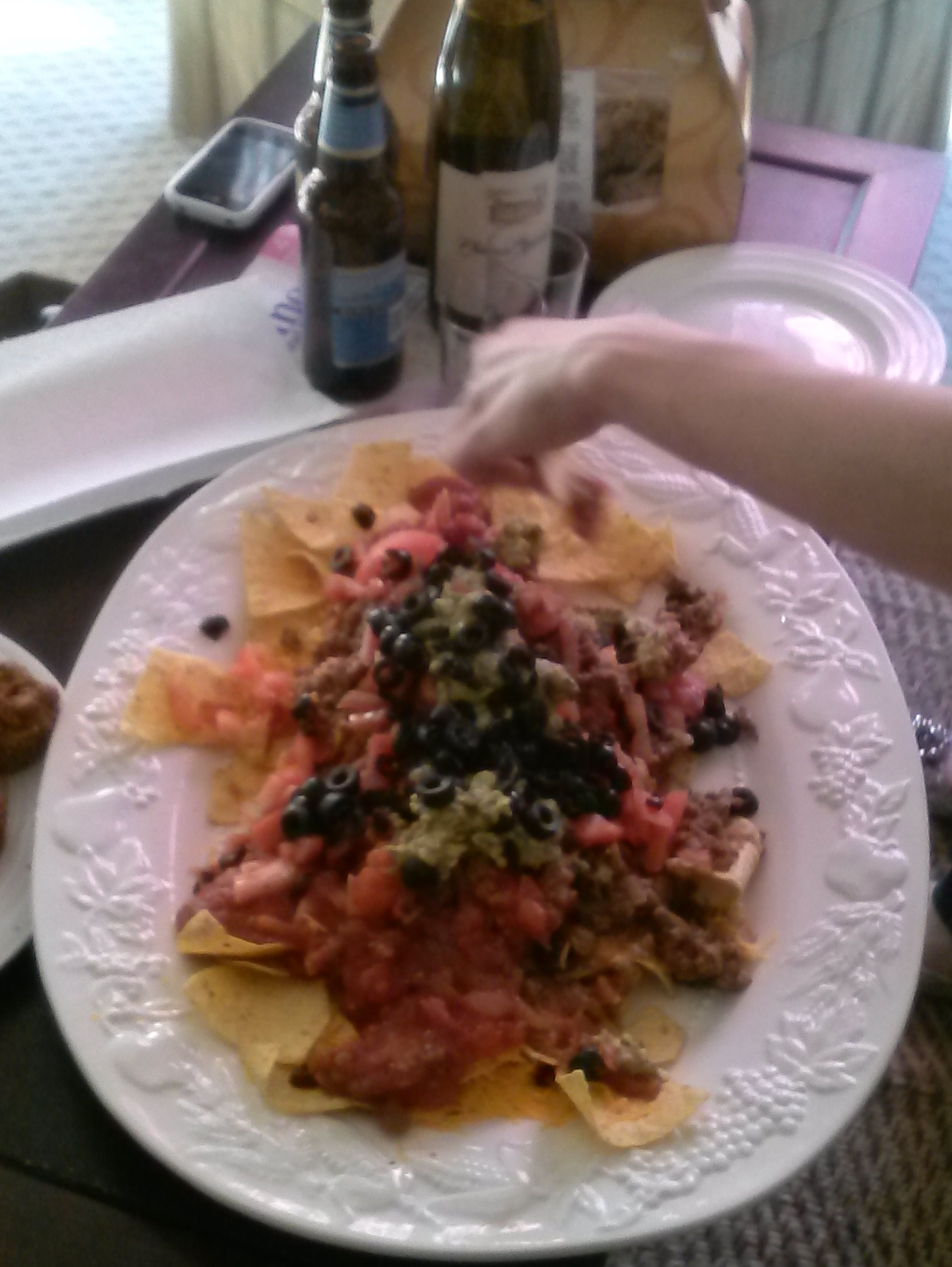 Big plate of nachos