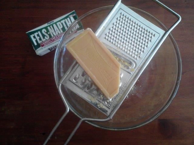 Grating Fels-Naptha Soap