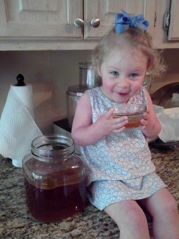 baby drinking kombucha