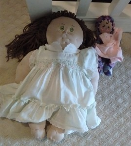 Homemade Cabbage Patch Doll with other doll