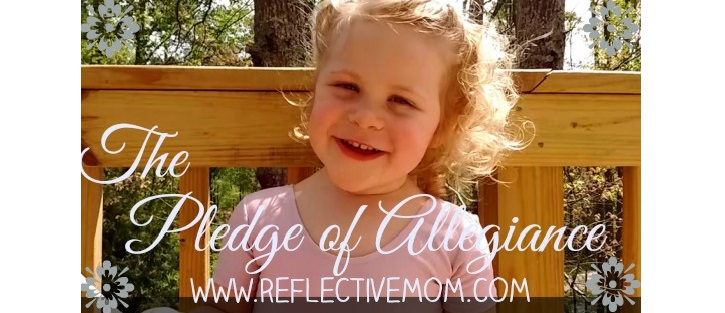 Preschooler says Pledge of Allegiance