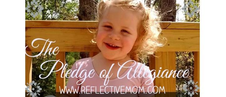 Preschooler says Pledge of Allegiance